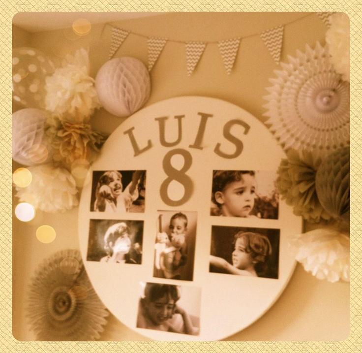 My Little Party Blog: Vuestras Fiestas. Globos de lunares, abanicos de papel y bolas nido de abeja. www.mylittleparty.es