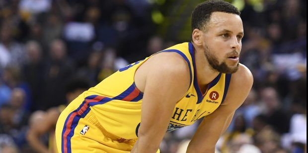 Golden State Warriors' Stephen Curry (30) waits to take his free-throw after injuring his right ankle during the first quarter of their NBA game at the Oracle Arena in Oakland, Calif., on Thursday, March 8, 2018. Curry would leave the game. (Jose Carlos Fajardo/Bay Area News Group)