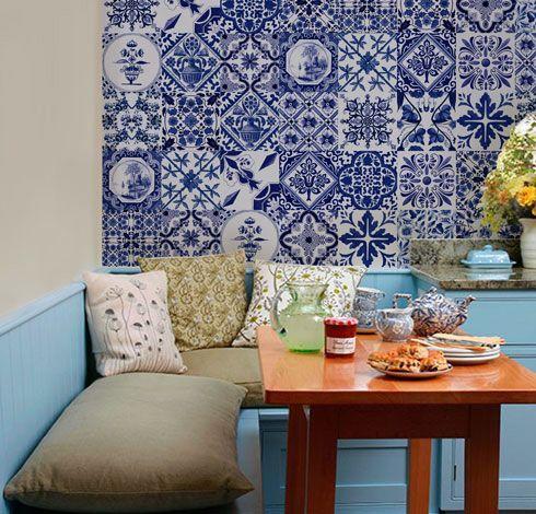 Adesivo azulejos portugueses cl ssicos 20 x 20cm nova for Nova casa azulejos