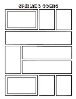Make a comic strip with spelling words reading groups for Comic strip template maker