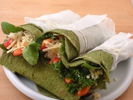 Mexikói spenótos tortilla és chips gluténmentes, vegán változatban recept