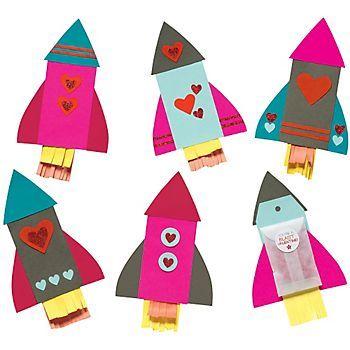 Rocket Ship Valentines Kit