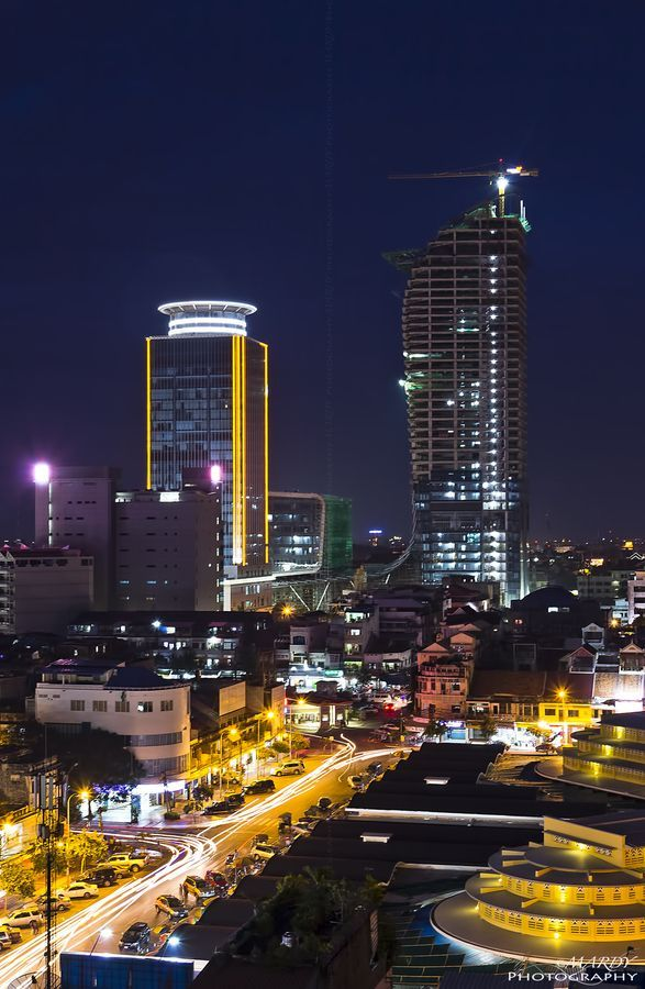 Twilight in Phnom Penh City! by Mardy Suong, via 500px