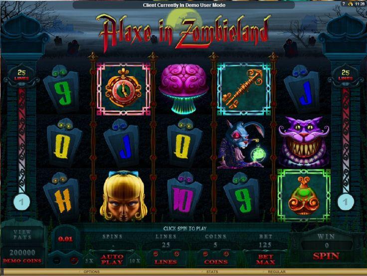 Spelautomater Alaxe In Zombieland - Välkommen till dem dödas rike när vålnader går över mörka kyrkogårdar och Alaxe kämpar för att föra vålnaderna tillbaka till dödens rike. I detta spel får du vara med och hjälpa Alaxe och på kuppen vinna en massa pengar. Spela Alaxe In Zombieland på http://www.gratis-slot.com/spel/spelautomater-alaxe-in-zombieland