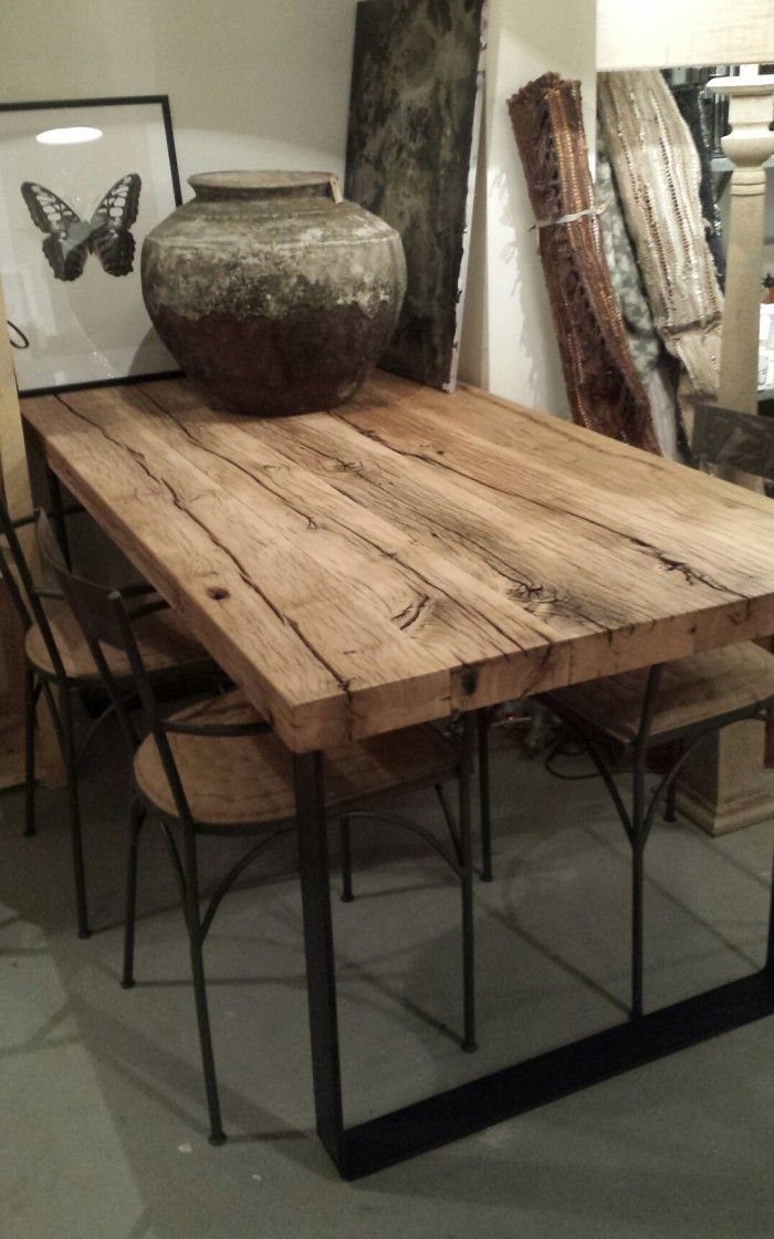 25 beste idee n over houten eettafels op pinterest for Houten eettafel design