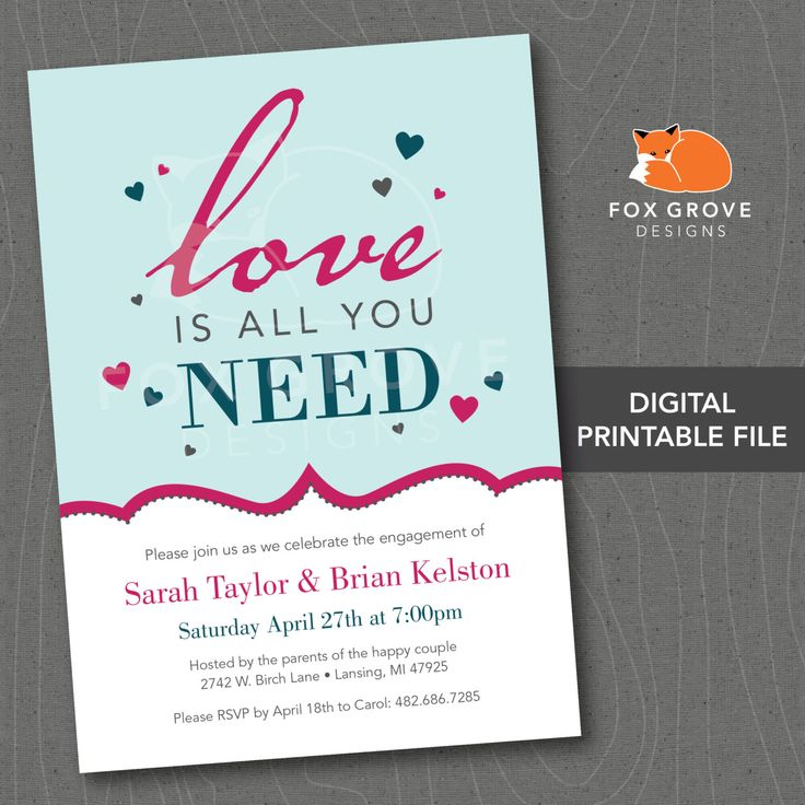 engagement party invitations packs