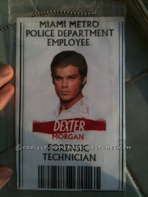 Unique and Easy DEXTER Costume with VICTIM...