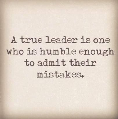 Be a leader.