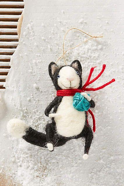 Happy Cat Ornament - anthropologie.com