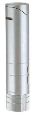 XIKAR Turrim Tabletop / Travel Case Cigar Lighter in Silver Finish