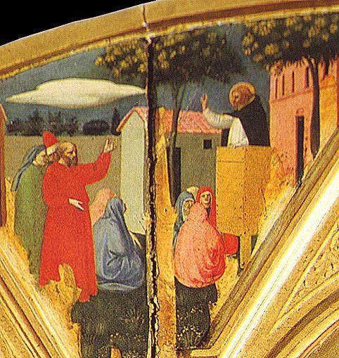 Фра Анжелико. Алтарь святого Петра Мученика. Фрагменты