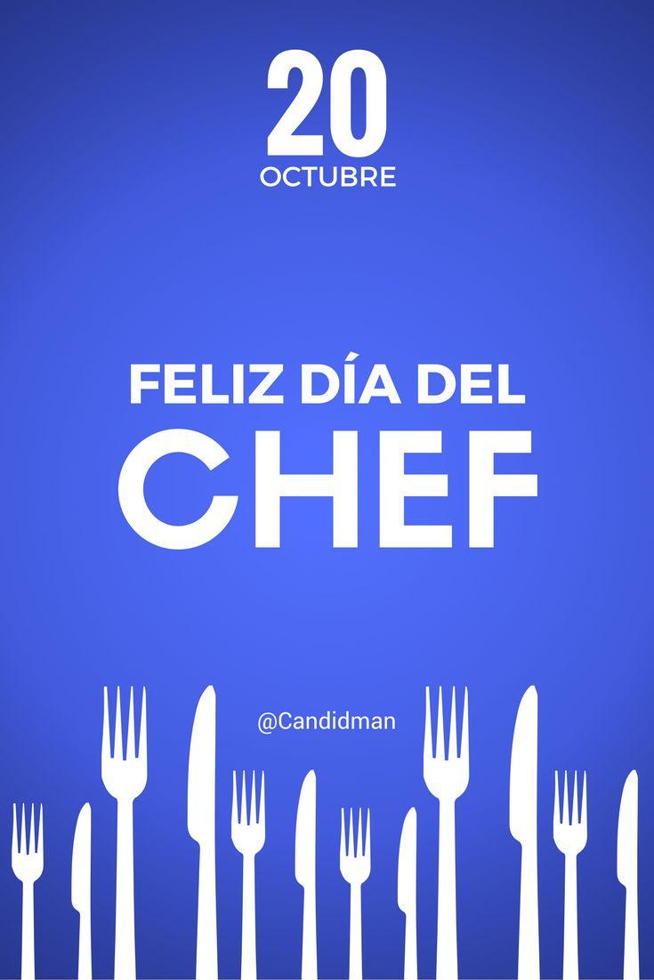 20 de #Octubre #DiaInternacionalDelChef @candidman #Frases #Chef #DiaDelChef #Cocina #Cocinero #Candidman #CreateWithCanva