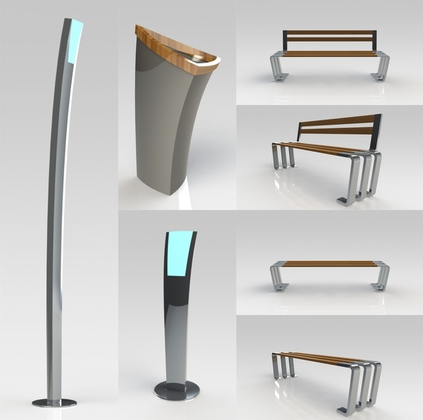 MRail Urban Furniture (Industrial Design) by Aleop Tur, via Behance