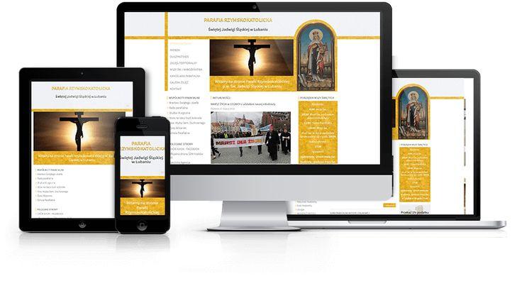 Responsywny serwis internetowy zaprojektowany i wykonany przez WiWi dla parafii Św. Jadwigi w Lubaniu #responsive #design #webdesign #inspiration #Responsive #Web #layout