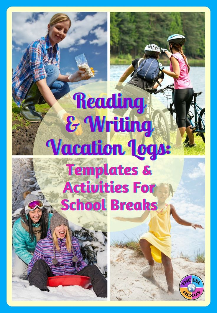 These reading & writing logs have short writing tasks for students to do during school vacations & holidays and also include space for recording their independent reading. There are 6 printable templates designed for different seasons & holidays.