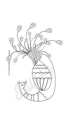 Pávás színező - Próbálkozások az Illustratorban