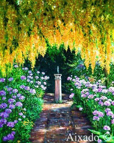 jardin con flores by aixado on deviantart
