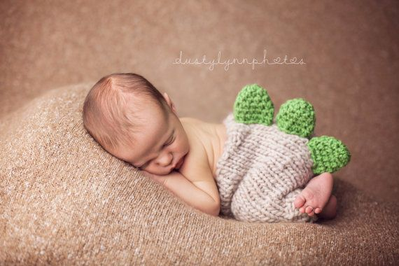 Newborn photo prop Dino pants dinosaur props knit by CrochetMyLove, $34.00