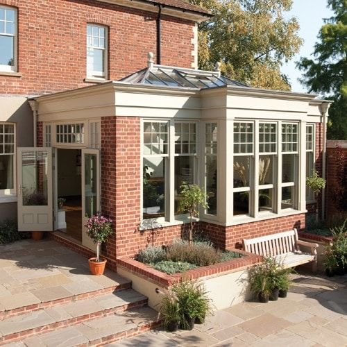 Westbury Garden Barn: New England Style Garden Room Extension