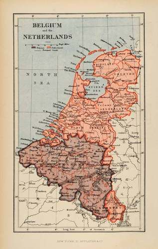1882 Photolithographed Map Belgium Netherlands Cartography Zuiderzee Friesland | eBay
