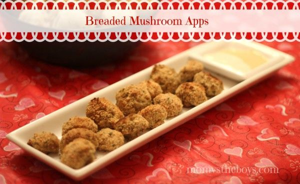 Recipe for Baked and Breaded Mushrooms Appetizers Parmesan - garlic  rated 5 stars