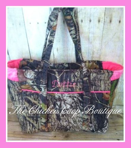 Camo Diaper bag w/Free Personalization soft by ChickenCoopBoutique