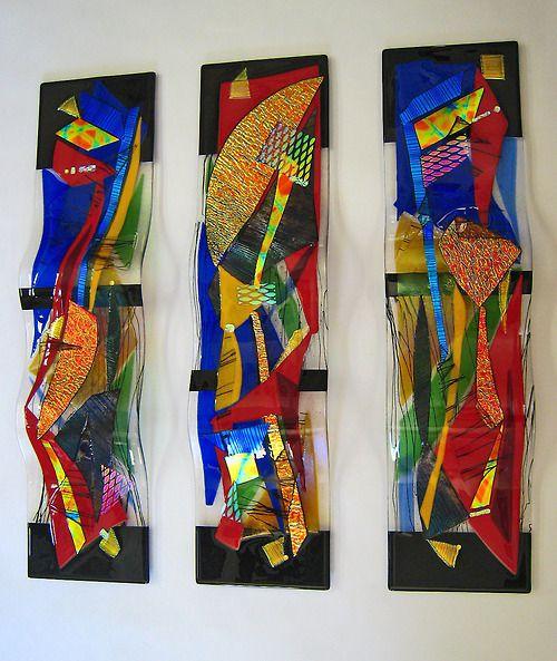 Contemporary art on glass, by Joyce van Loben.