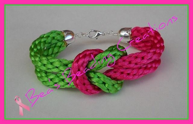 Double kumihimo knot bracelet