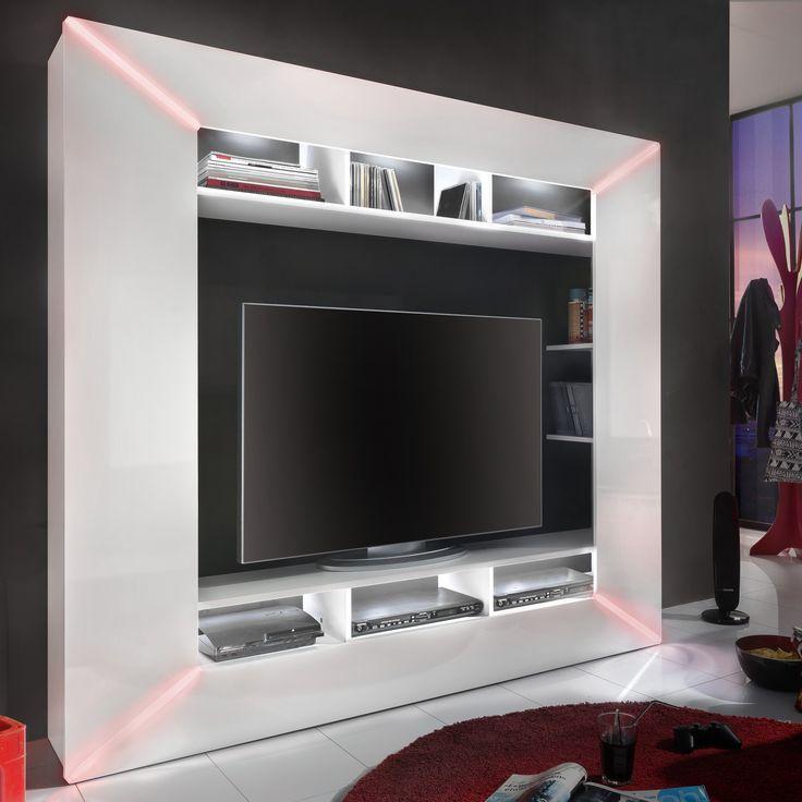 25+ best ideas about tv wand hochglanz on pinterest | ikea ... - Wohnzimmer Tv Wand Modern