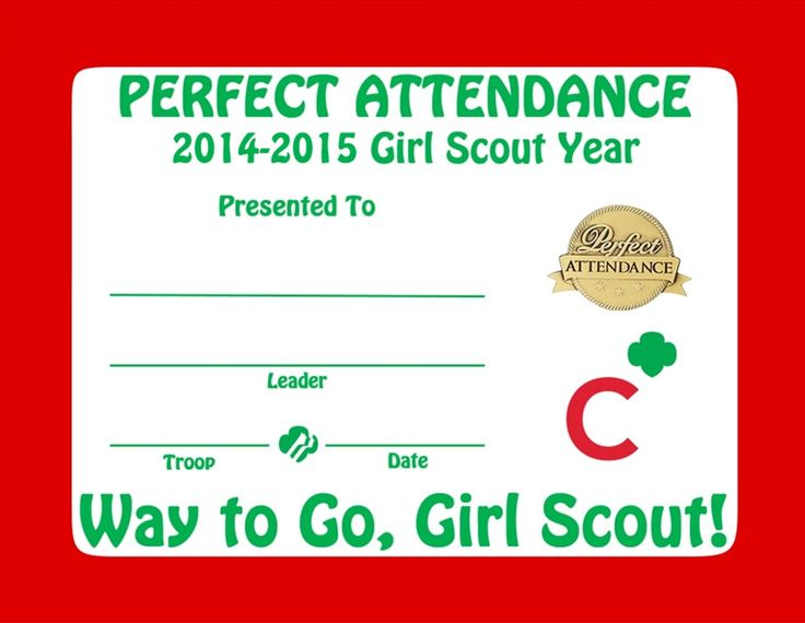 81 best Cadette Girl Scouts images on Pinterest Brownie girl - attendance certificates printable