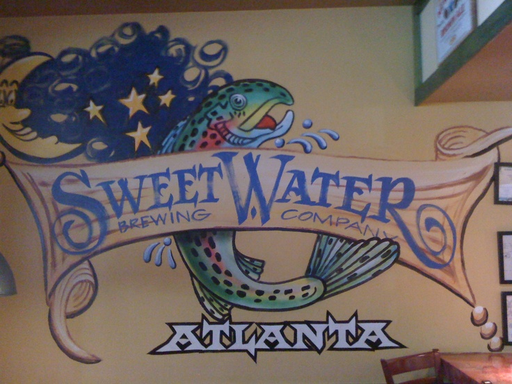 artwork for a fave beer of mine on Mellow Mushroom's wall (Hiram, GA)