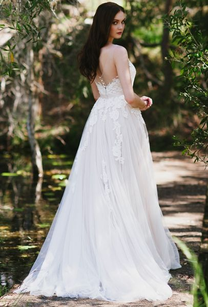 French Collection | by Wendy Makin bridal designs | Eleanor Back