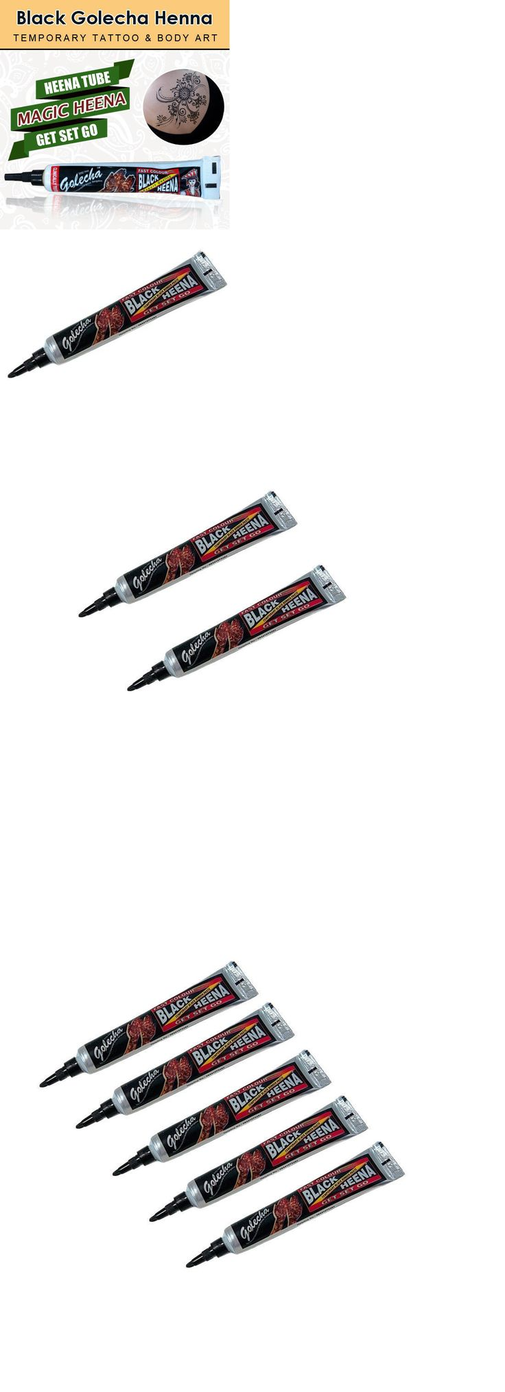 Henna Paste and Powder: Golecha Black Henna Tubes 100% Instant Fast For Tattoos Body Art Jagua Tattoos -> BUY IT NOW ONLY: $33.0 on eBay!