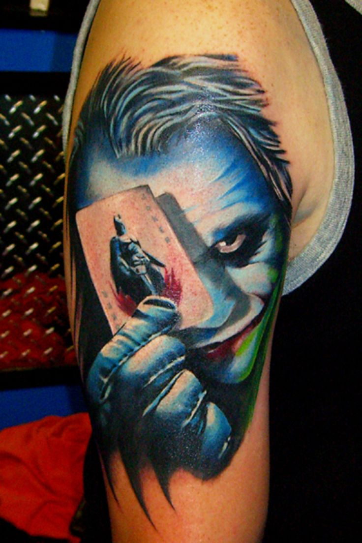 Batman Joker Card Tattoo The Joker Holdi...