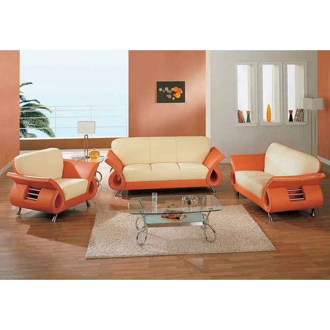 The 559 Beige Orange Living Room Collection By Global Furniture Will Bring A Relaxing And