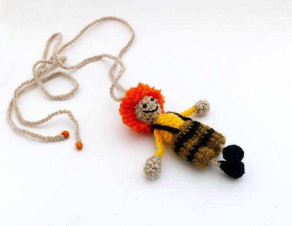 Karotin horgolt nyaklánc / Carotene crochet necklace