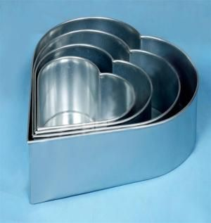"COOL HEART SHAPED WEDDING CAKE BAKING TINS 6"" 8""10""12"" BIRTHDAY CAKES ANNIVERSARY CAKES 