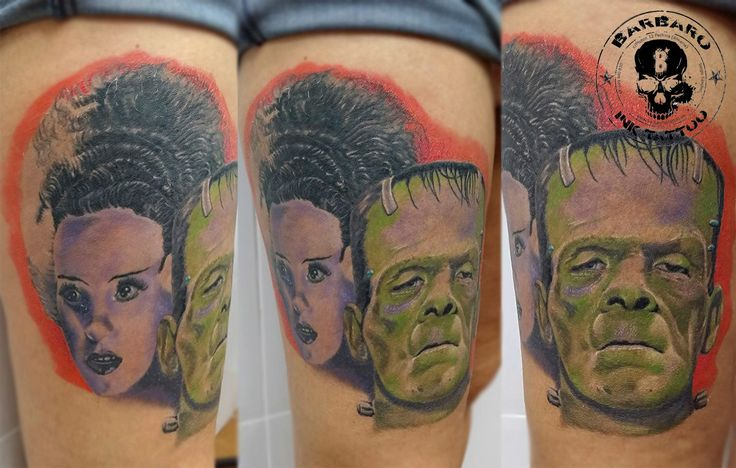 #tattoo #tattooist #tattoolife #tattooartist #tattoofreakz #tattoolifemag #tattooistartmag #tattooed_body_art #tattooistartmagazine #thebesttattooartists #thebestpaintattooartists #inkedmag #inkfreakz #crazytattoos #bloodygirls #tattooalmeria #tattooed #tattooedgirls #terrortattoo #frankenstein #thebrideoffrankenstein #colortattoo