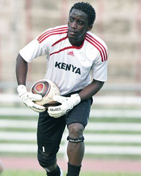 Harambee Stars goalkeeper Arnold Origi training at Nyayo National Stadium on Monday. [PHOTO: STAFFORD ONDEGO/STANDARD]