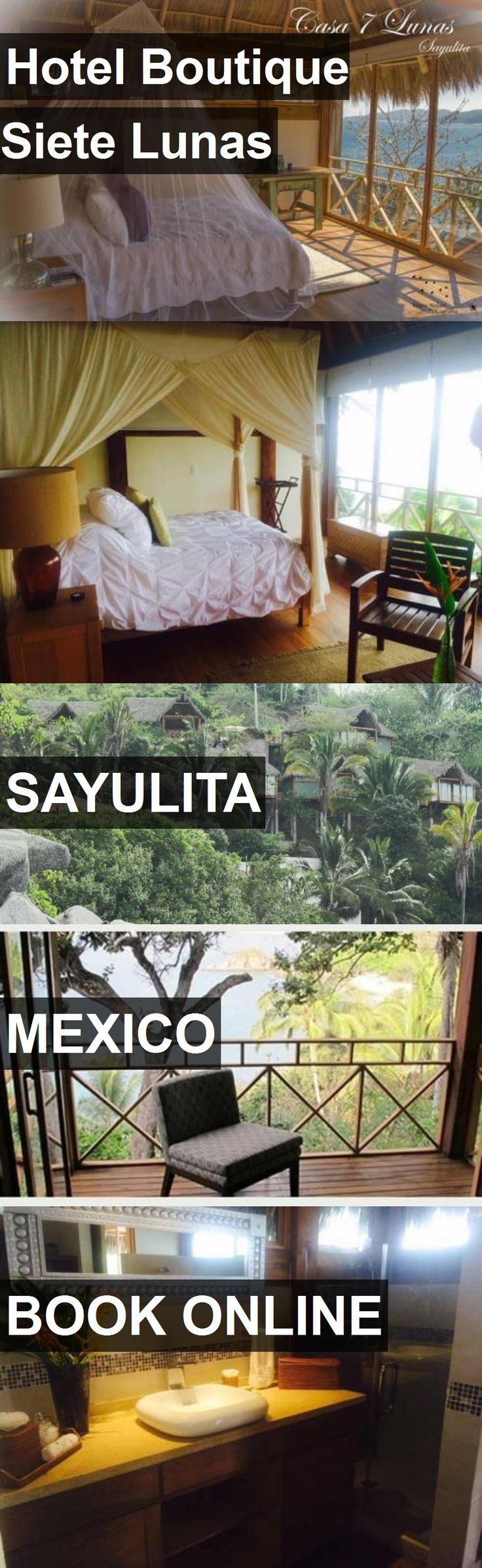 Hotel Boutique Siete Lunas in Sayulita, Mexico. For more information, photos, reviews and best prices please follow the link. #Mexico #Sayulita #travel #vacation #hotel