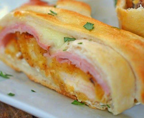Crispy Chicken Cordon Bleu Stromboli ~ Easy Recipes