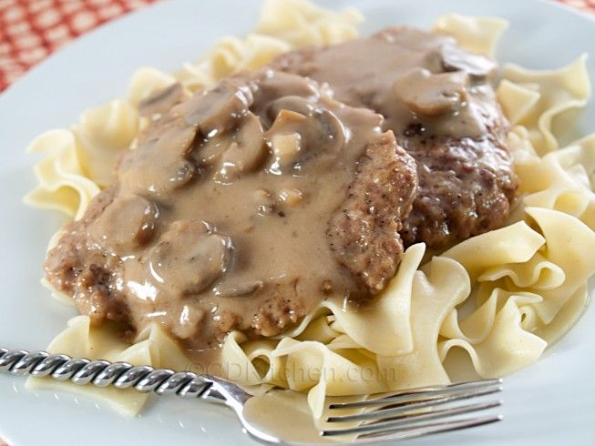A 5-star recipe for Cube Steak And Gravy made in the crock pot made with cube steak, salt, black pepper, flour, onion gravy mix, cream of mushroom soup