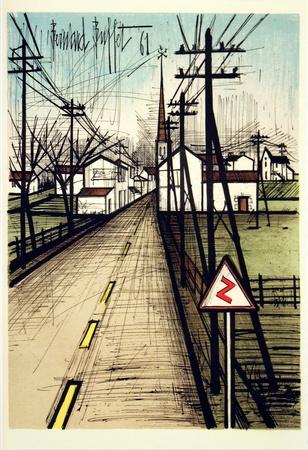 Bernard Buffet - Le Route vers le Village print
