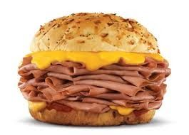 BEEF and CHEDDAR SANDWICHES Arby's Copycat Recipe 3 - 4 lbbeef roast 1/2 cupwater 1/2 cupdark brown sugar, firmly packed 2 pac...