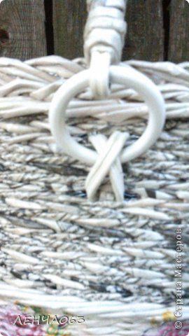 Поделка изделие Плетение Cумка- торба Бумага газетная Картон Салфетки Трубочки…