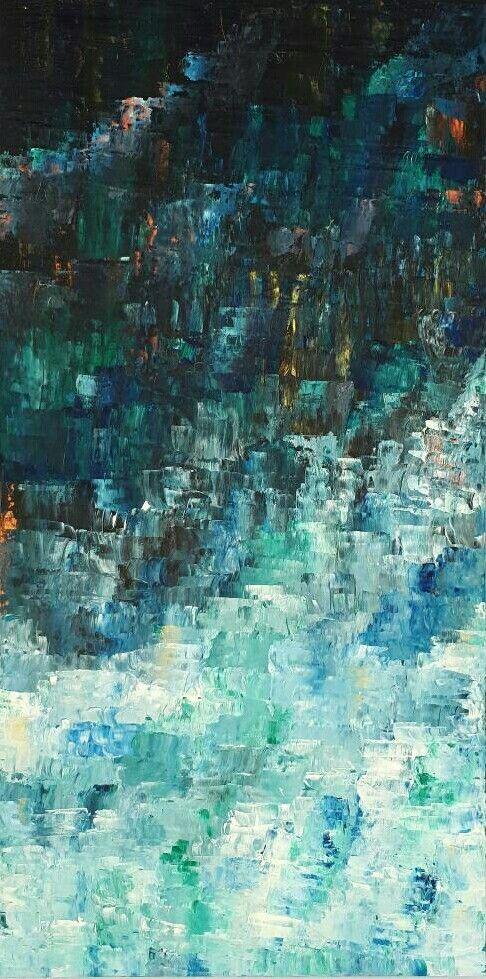 MELVILLE ART, Beautiful Original Artwork. Modern Abstract Painting on canvas.