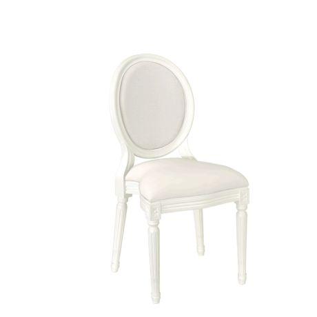 Chaise Montaigne blanche ignifugée