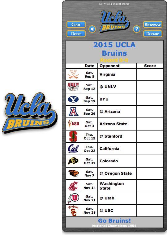 ucla football schedule