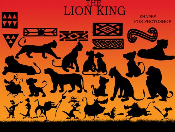 lion king silhouettes - Google Search. Trick or Treat Street.