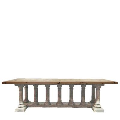 This Flamboyant Dining Room Table Is Made From Reclaimed Pine